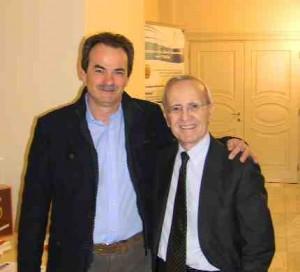 """Armando Pintus con Dan Peterson, famoso e plurivittorioso allenatore di basket oltre che commentatore televisivo, relatori di un """"Meeting sulla Leadership"""""""