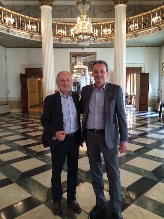 Walter Hartsarich, Presidente della Fondazione MUVE, con Armando Pintus presso il Museo Correr